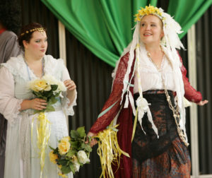 """Britt Hensley '12 in Piedmont's production of """"The Taming of the Shrew"""" in 2014."""